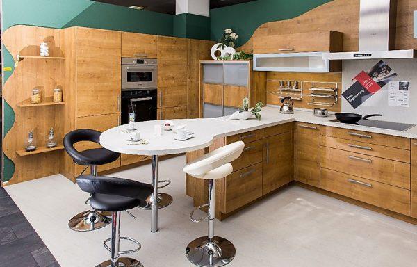 Schmidt Küchen ARCOS E130 – WILD OAK Zeitlose, gemütliche Küche mit Sitzplatz